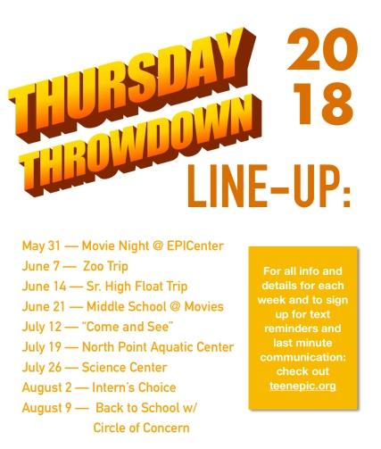 Thursday Throwdown 18